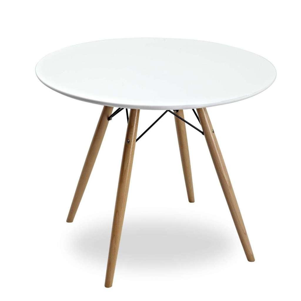 mesa de comedor redonda tendar 80cm estilo eames blanca