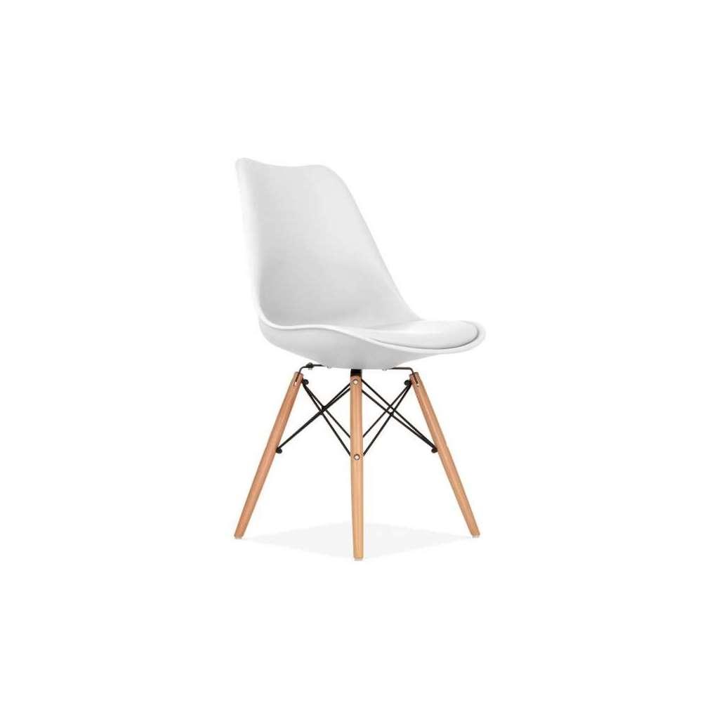 Silla eames fiore blanca silla de dise o eames sillas eames for Sillas de diseno blancas