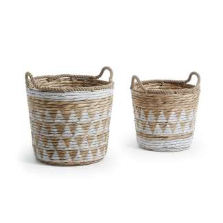 Set 2 cestas jacinto PROLL de agua blanco