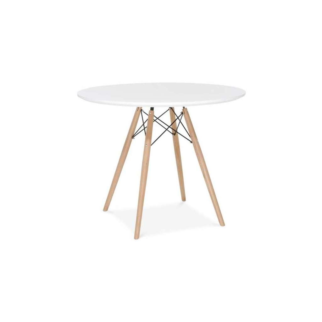 Mesa de comedor redonda c r eames style 90 cm for Mesa comedor redonda blanca