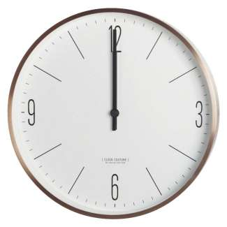 Reloj de pared Couture Wall Clock, Gold/White - House Doctor