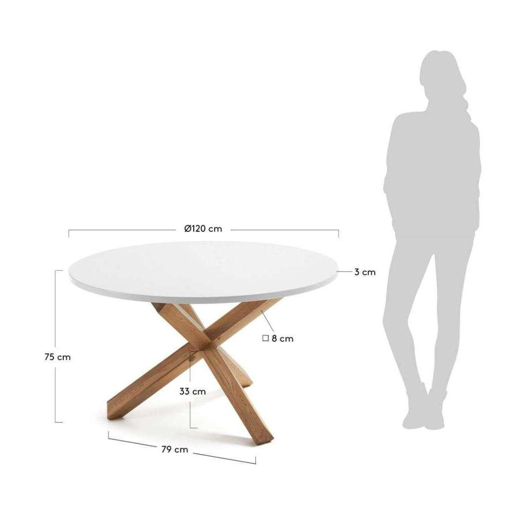 Mesa de comedor redonda nordikyi 120 cm blanca mesa for Mesa redonda blanca