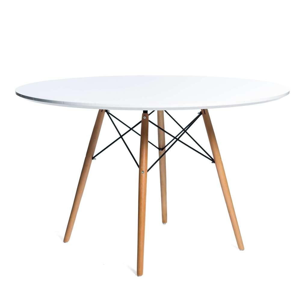 Mesa de Comedor Redonda Eames 120cm Blanco