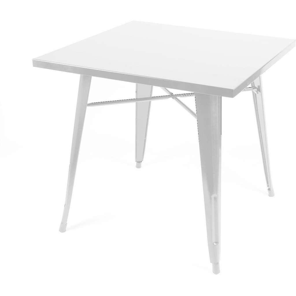 Mesa de comedor cuadrada 80x80cm estilo tolix blanca for Mesa cuadrada blanca