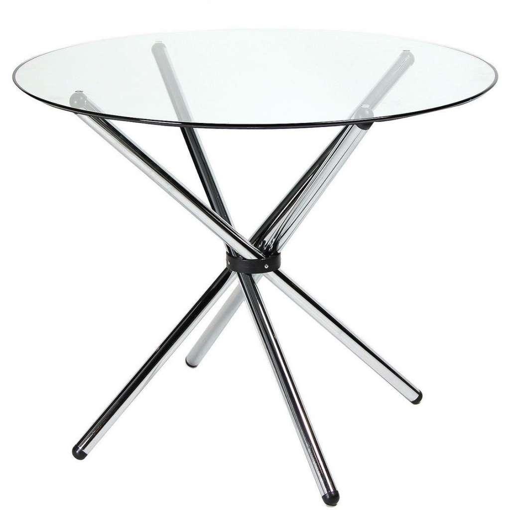 Mesa de comedor redonda 90cm cristal transparente for Mesa cristal 90 cm