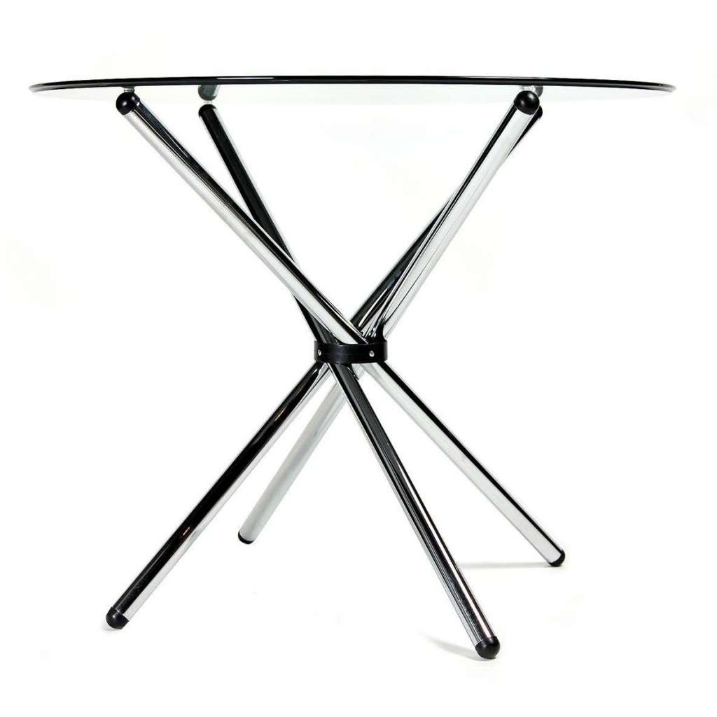 Mesa de comedor redonda 90cm cristal transparente - Mesa redonda de cristal ...