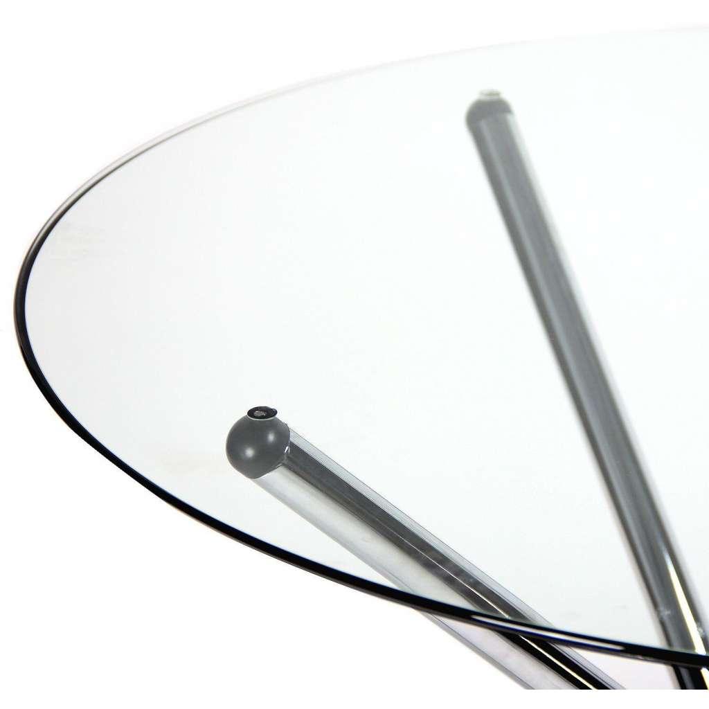 Mesa de comedor redonda 90cm cristal transparente for Mesas de comedor cristal transparente