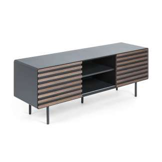 Mueble Tv EIDSVAG 162x58 chapa nogal, dm grafito mate