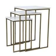 Set de 3 mesas MILAN Set de 3 mesas mármol , Mesas con estilo Sueco con Vackart tu tienda de diseño mas cool