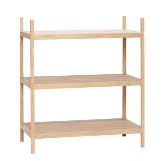 Estantería madera Nyköping 3 estantes- Hübsch