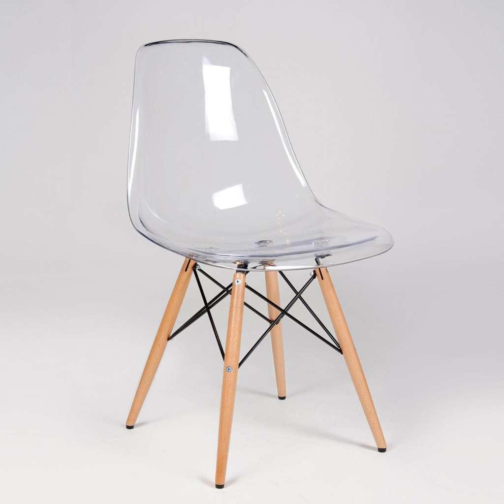 silla eames dsw transparente. Black Bedroom Furniture Sets. Home Design Ideas