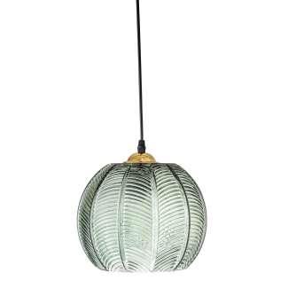 Lámpara de Techo LUKSUS, Vidrio Verde / Latón - Bloomingville. Vackart