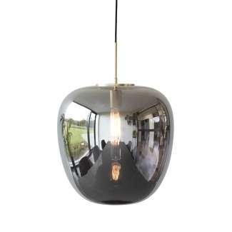 Lámpara de Techo GRÅFTAE Ø40 cm, Vidrio Gris / Latón - Hübsch. Vackart
