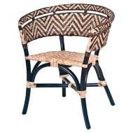 Silla con Brazos DALUCY, Bambú Negro / Ratán Natural - Vackart. Las exclusivas sillas de diseño nórdico en Vackart, tu tienda de diseño online.