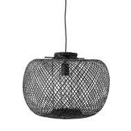 Lámpara de Techo ELLA, Bambú Negro - Bloomingville. Las exclusivas lámparas de diseño nórdico de Bloomingville en Vackart, tu tienda de diseño online.