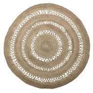 Alfombra FORENET Ø182 cm, Yute Natural - Bloomingville. Las originales alfombras de diseño nórdico de Bloomingville en Vackart, tu tienda de diseño online.