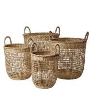 Set 4 Cestas COLLECT, Algas Marinas - Affari. Las exclusivas cestas de diseño nórdico de Affari en Vackart, tu tienda de diseño online.