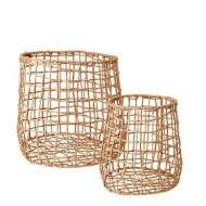 Set 2 Cestas COLLECT, Hierro / Papel Natural - Affari. Las exclusivas cestas de diseño nórdico de Affari en Vackart, tu tienda de diseño online.