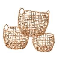 Set 3 Cestas COLLECT, Hierro / Papel Natural - Affari. Las exclusivas cestas de diseño nórdico de Affari en Vackart, tu tienda de diseño online.