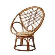 Sillón RIVIERA BRITT 98 cm Alto, Ratán Natural. Los modernos sillones de diseño nórdico de Affari en Vackart, tu tienda de diseño online.