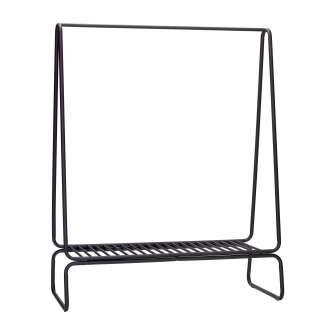 Perchero Burro TREKANT 122 cm, Metal Negro - Hübsch. Vackart