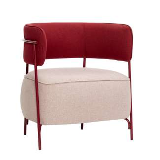 Sillón LYSE, Metal / Textil Rojo / Rosa - Hübsch. Vackart