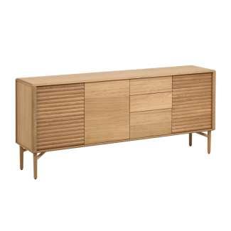Aparador Lenon 200 x 86 cm de madera maciza y chapa de roble - Kave Home