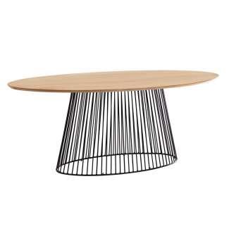 Mesa Leska 200 x 110 mango/acero negro - Kave Home, Vackart CC1890M46