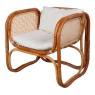 Sillón CUBE NATURAL, Ratán / Textil - Vackart. Los modernos y más exclusivos sillones de diseño nórdico en Vackart, tu tienda de diseño online.