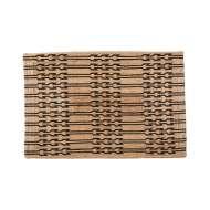 Alfombra JUNI L 180x120 cm, Yute Natural / Negro - Affari. Las modernas y exclusivas alfombras de diseño nórdico de Affari en Vackart, tu tienda de diseño online.