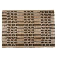 Alfombra JUNI XL 240x180 cm, Yute Natural / Negro - Affari. Las modernas y exclusivas alfombras de diseño nórdico de Affari en Vackart, tu tienda de diseño online.