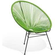 Elegante silla de diseño Acapulco verde, ideal para interior y exterior, famosa silla icono del diseño de gran comodidad y mucha personalidad