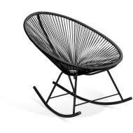 Mecedora Acapulco negra, silla de exterior, silla de diseño