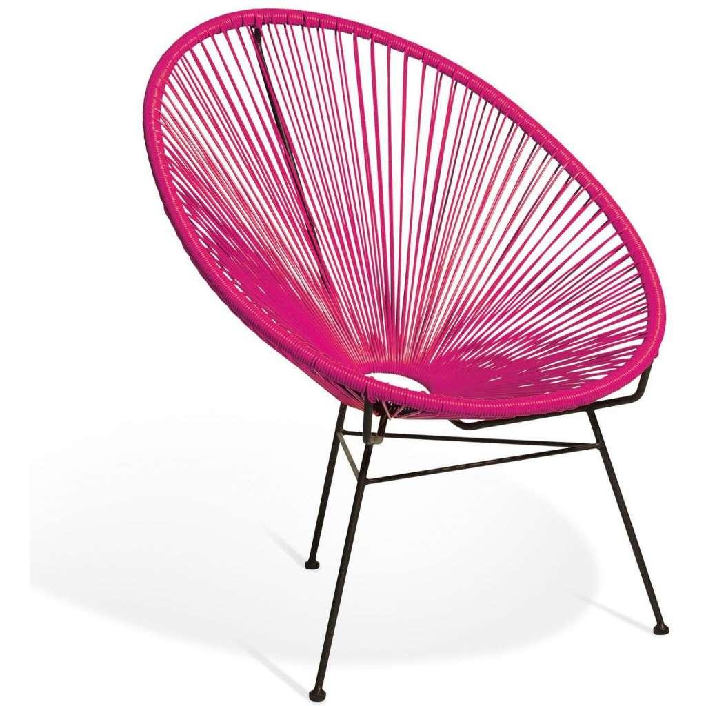 Elegante silla de dise o acapulco fucsia for Silla acapulco