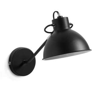 Lámpara Lynby Metálico Negro, Aplique de Pared