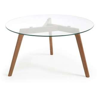 Mesa de centro redonda solna 90cm sobre cristal - Mesas de centro redondas amazon ...