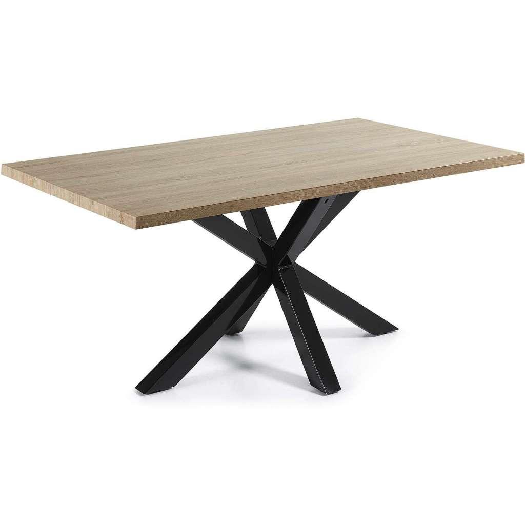 Mesa de comedor luft 180x100cm madera natural pies - Mesa de comedor grande ...