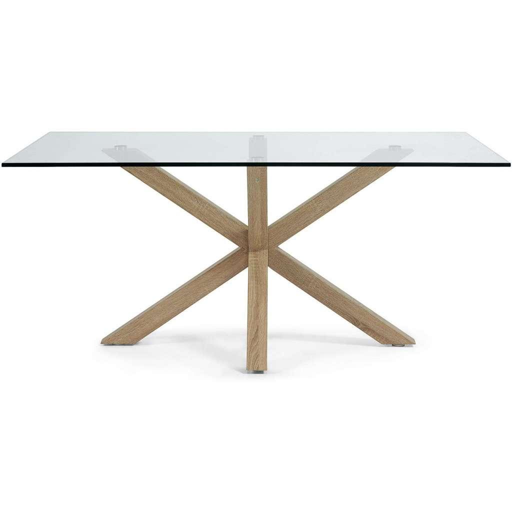 mesa luft xcm de comedor de cristal
