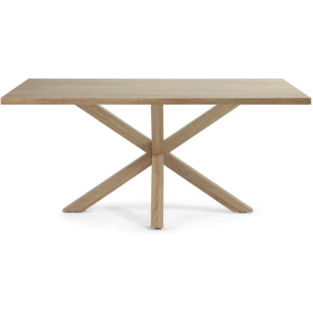 Mesa de comedor luft 180x100cm madera natural mesa - Mesas comedor madera natural ...