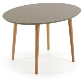Mesa oval NORSK extensible 120 marrón