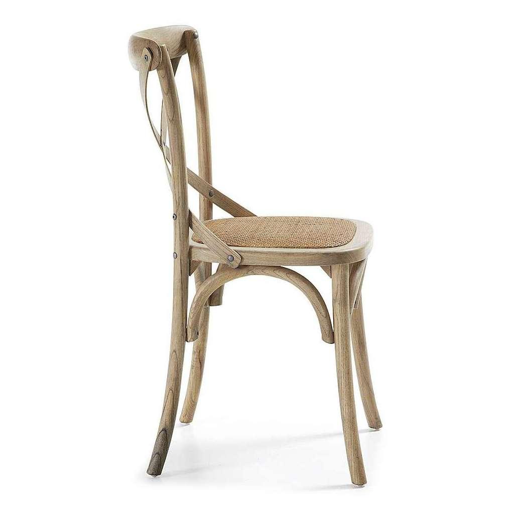 Madera De Natural Silla sillas Diseño Paris Antiguo Y Bistro estilo PXiuOkZ