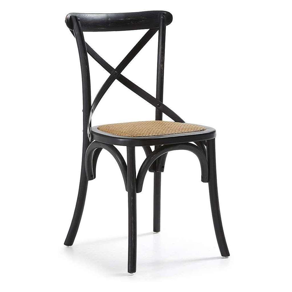 Silla bistro paris negra sillas de dise o estilo antiguo y moderno - Sillas negras ...