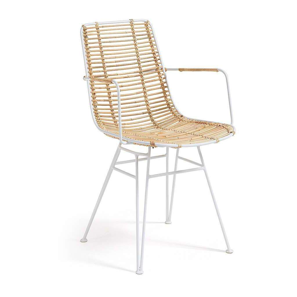 Silla positan ratt n acabado blanco silla de dise o for Sillas diseno escandinavo