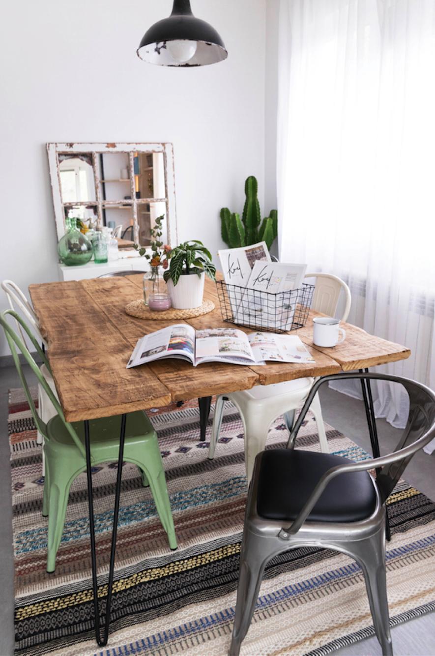 Mesas de comedor con sillas diferentes: ¡Te enseñamos como